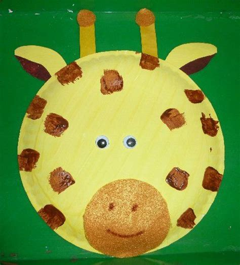 Giraffe Paper Plate Craft - pin by glenda sandrell on pre k thenes safari
