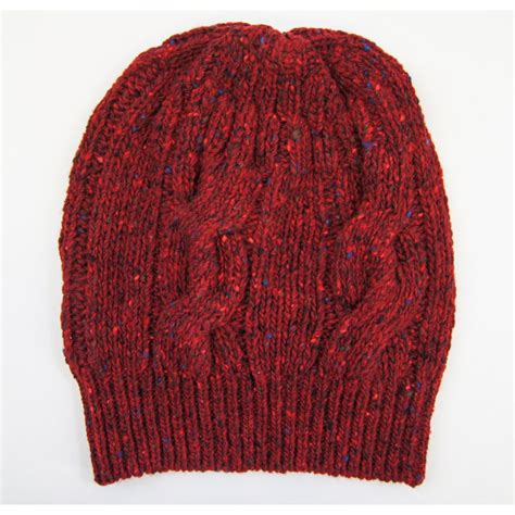 cable knit hat viyella donegal wool cable knit hat viyella from