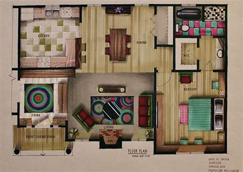 Marker Rendering Interior Design by Marker Rendering On Behance