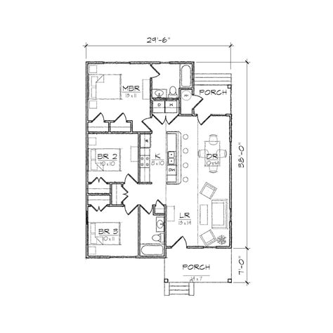 carolinian i bungalow floor plan tightlines designs