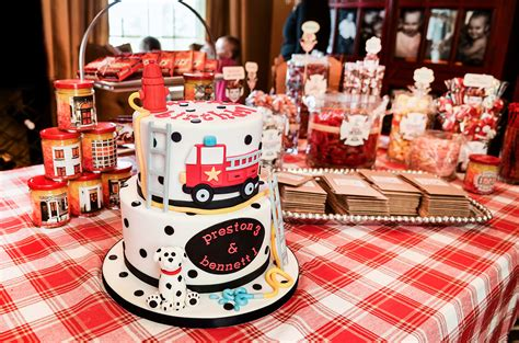fire up theme junkie fire truck birthday party pb grey