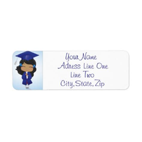 graduation labels template free graduation return address labels templates