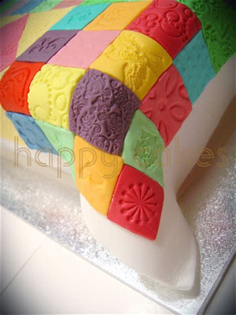 Patchwork Quilt Cake - happy cakes patchwork quilt cake