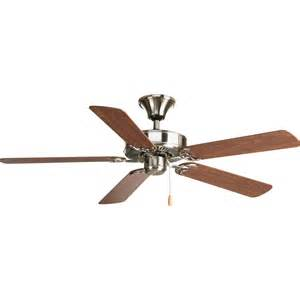 flush ceiling fan shop progress lighting airpro brushed nickel indoor