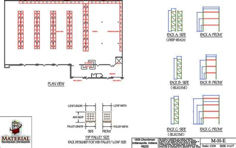Modern Warehouse Layout And Design Material Handling Exchange Warehouse Rack Layout Excel Template