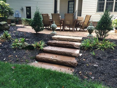 how to build a backyard patio steps and stairs richmond va hardcape stair installation