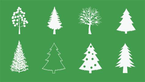 christmas tree vector freebies gallery