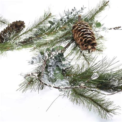 pine garland snowy artificial eucalyptus and pine garland