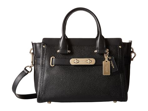 Coach Swagger 27 Embelished coach pebbled leather coach swagger 27 at zappos