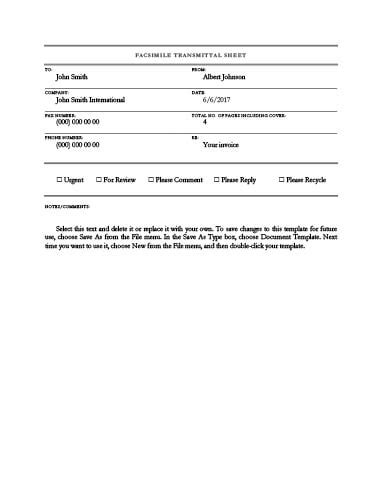 fax form template 29 free printable fax cover sheet templates