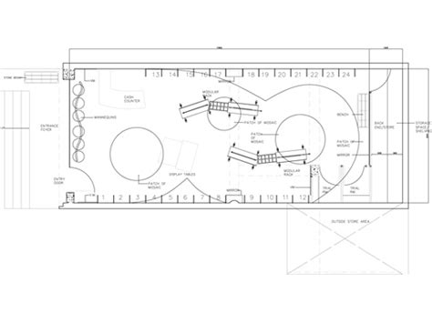 layout plan of garment showroom architect interior designer for retail stores shops