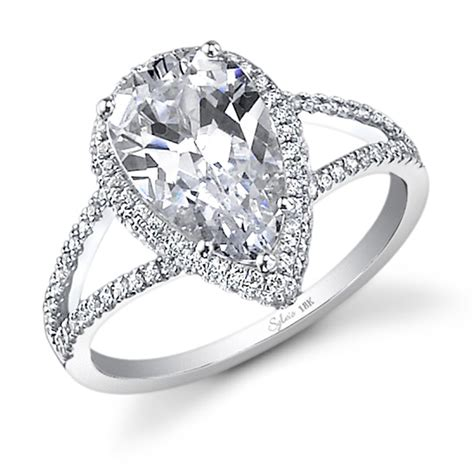 shaped wedding rings with diamonds glamorous pear shaped engagement rings for