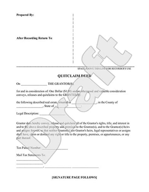 quit claim deed form free quit claim deed template with