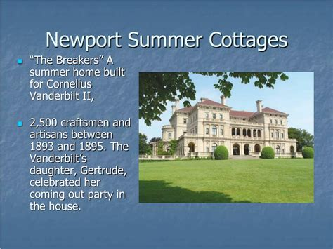 Summer Cottages by Ppt American Wealth Of The Gilded Age 1870 S 1890 S