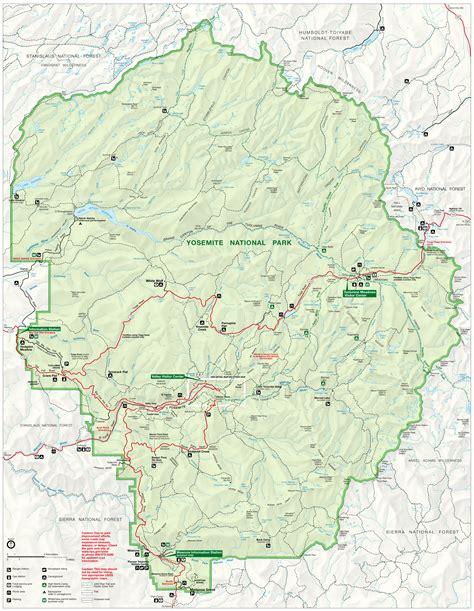 map of yosemite national park yosemite map alltrips
