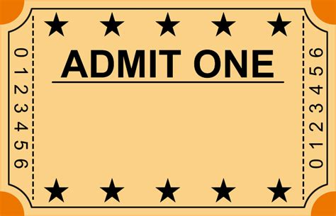 blank admit one ticket template 6 ticket templates teknoswitch