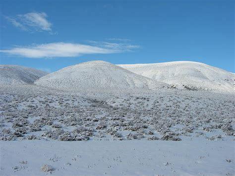snow in desert black rock desert in the snow usa road trips