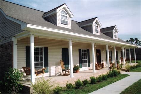 One Story Floor Plans With Wrap Around Porch Blythewood Place Acadian Home Plan 028d 0008 House Plans