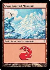 snow covered mountain magic card