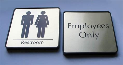 modern bathroom signs mens and womens restroom signs bathroom signs for business