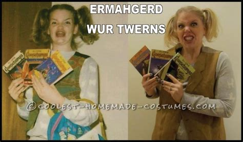 Internet Meme Costume Ideas - funny last minute ermahgerd girl internet meme halloween