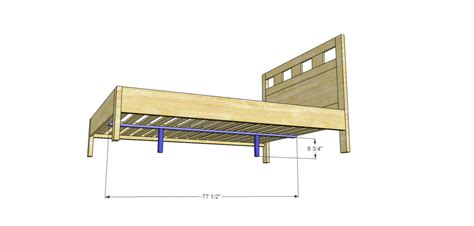 bed support slats riva queen bed plans