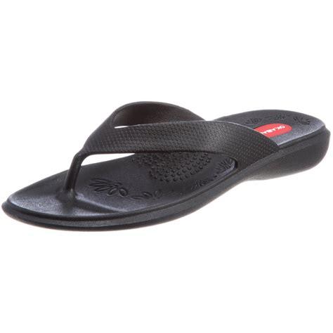 Okabashi Womens Black Splash Comfy Thong Flip Flop Sandal Shoes | okabashi womens black maui orthopedic thong flip flop