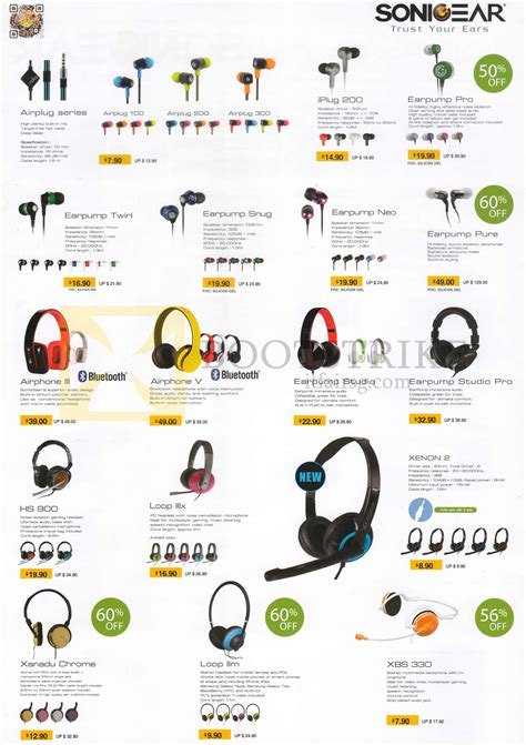 Headset Sonicgear Loop Ii X sonicgear headsets earphones airplug 100 200 300 iplug