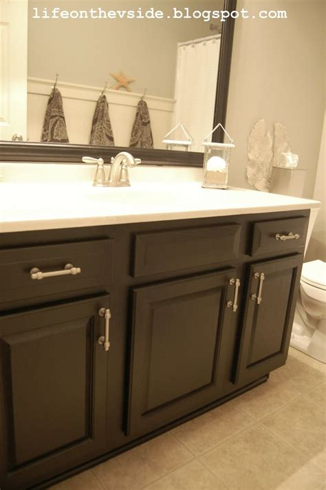 painting bathroom vanity black 18 best images about bathroom makeover inspiration on