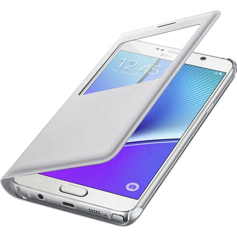 Flip Cover S View Samsung Galaxy Note5 Auto Lock Flipcover Samsung S View Flip Cover For Galaxy Note 5 Ef Cn920pwegus B H