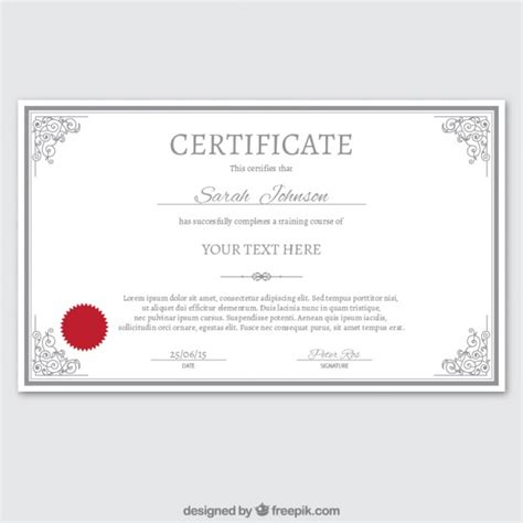 certificate template ai certificate template in ornamental style vector free
