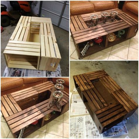 Wine Crate Coffee Table Diy Diy Wine Crate Coffee Table Projects And Tutorials Make It New Repurposed And Upcycled Diy