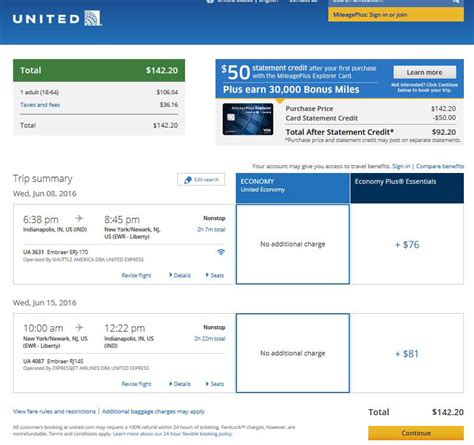 united airlines booking 107 147 detroit indianapolis to new york city
