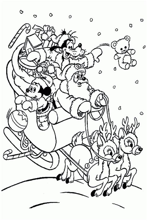Mickey Mouse Christmas Coloring Page Coloring Home Mickey Mouse Merry Coloring Pages