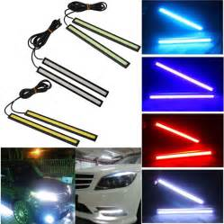 Car Lights On Ebay 2pcsx 12v Led Cob Auto Car Driving Daytime Running Light