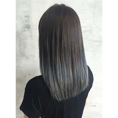 picture of long dark hair eith gray teverse frost 1000 ideas about ash grey hair on pinterest ash gray