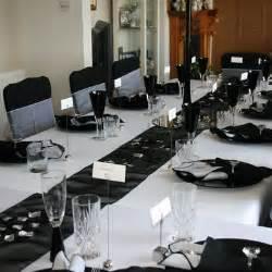ultimate zone black and silver wedding decor