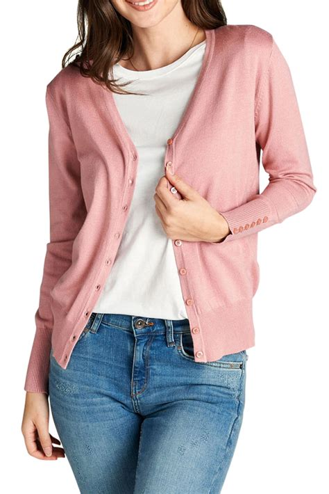 Open Front V Neck Cardigan juniors casual sleeve v neck classic open front