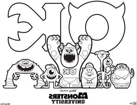 printable coloring pages monsters university monsters university free colouring pages