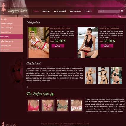 nightwear website store template free website templates in css