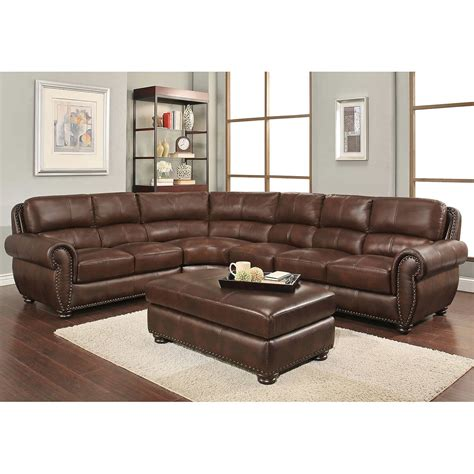 leather sectional with ottoman leather sofa with ottoman thesofa