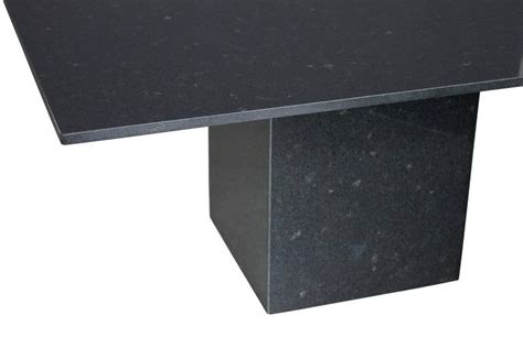 Minimalist Italian Black Granite Pedestal Dining Table At Black Granite Dining Table