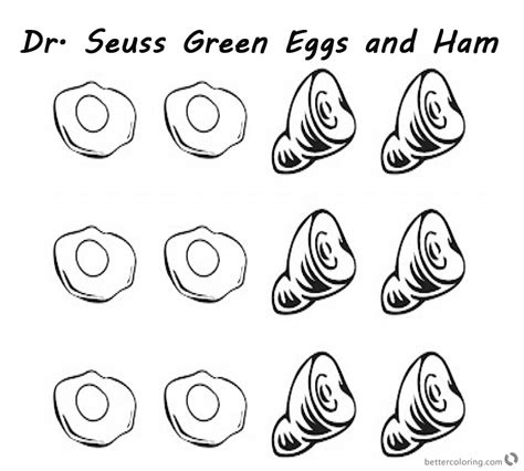 eggs and ham coloring page dr seuss green eggs and ham coloring pages six eggs and