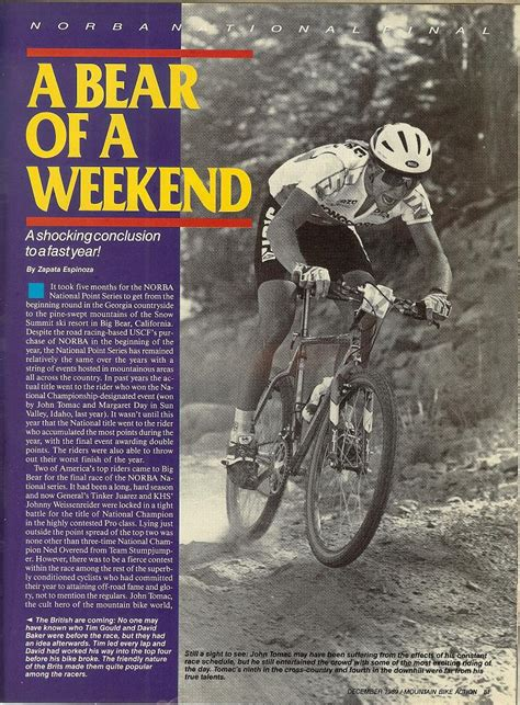 Mba Big 4 by Tomac On His Ti Mongoose At Big Mba Dec 1989