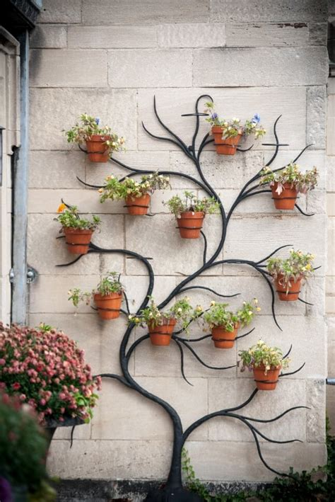 ideas  display planters   outdoor wall