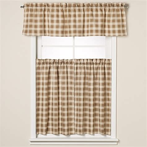 country check curtains country check window curtain tiers bed bath beyond