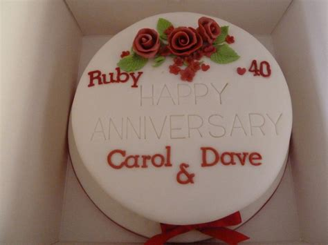 Ruby Wedding Cakes by Anniversary Cakes Wedding Birthday Cakes From Maureen