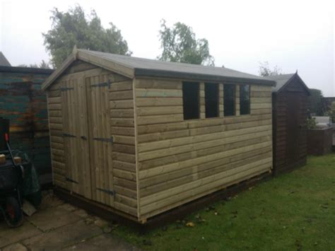Midland Sheds 10x8 19mm ultimate tanalised apex shed 19mm midland