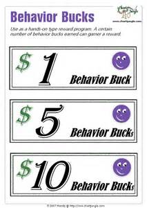 Classroom Bucks Template by Behavior Bucks Template Images