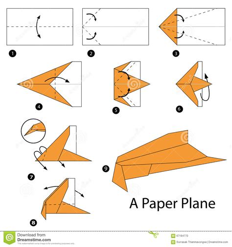 How To Make A Paper Plane Glider Step By Step - paper paper planes
